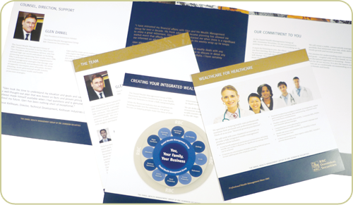 Daniel Wealth Management brochure and inserts